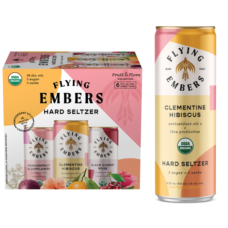 Flying Embers Seltzer Fruit & Flora VP 4/6 CAN