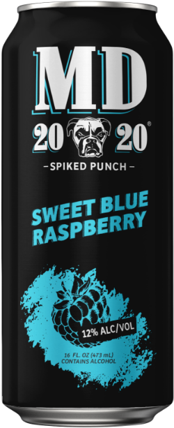 MD 20/20 Sweet Blue Raspberry 16 OZ CANS
